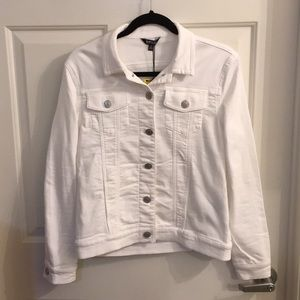 Buffalo David Bitton White Denim Jacket Small NWT